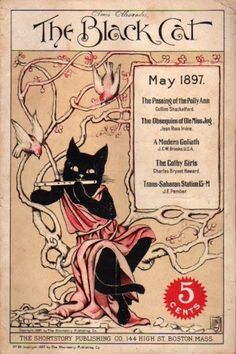 May The Black Cat Magazine cover. Illustration by by Nelly Littlehale Umbstaetter. Crazy Cat Lady, Crazy Cats, I Love Cats, Cool Cats, Cat Magazine, Magazine Covers, Black Cat Art, Black Cats, Animal Gato