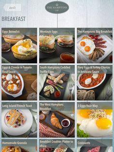 #breakfast Arrabiata Sauce, Crudite Platter, Digital Menu, Coddle, Basil Sauce, Chorizo, Granola, Truffles, The Hamptons