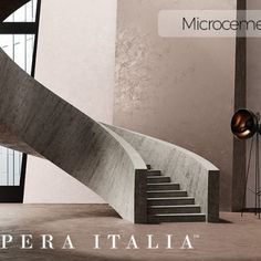 Microcement wall and floor kit offered by Impera Italia for a create durable contemporary design. Micro screed or beton cire look with an Italian finish Contemporary Design, Minimalism, Stairs, Flooring, Wall, Bathroom, Blog, Home Decor, Italia