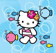 Hello Kitty #bagnivirginia #beach #loano #liguria #italia