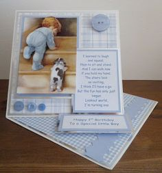 Twisted Easel Card Tutorial By Yvonne Tune Card Art Cut a sheet of card by 29 ½ cm and score on the hal. Easel Cards, Handmade Baby, Baby Cards, Your Cards, Card Making, Paper Crafts, Tutorials, Craft Ideas, Beautiful