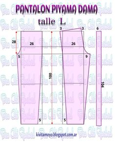 Blog de patronaje y diseño Easy Sewing Patterns, Sewing Tutorials, Clothing Patterns, Sewing Projects, Sewing Pants, Sewing Clothes, Diy Clothes, Pajama Pattern, Pants Pattern