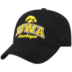 finest selection 35e45 17ad7 Adult Top of the World Iowa Hawkeyes Advisor Adjustable Cap, Black