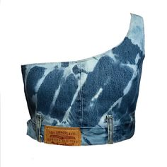 Denim Fashion, Fashion Outfits, Clothing Hacks, Clothing Ideas, Painted Clothes, One Shoulder Tops, Denim Top, Aesthetic Clothes, Custom Clothes