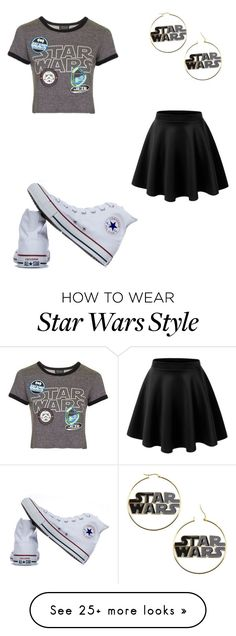 """Star wars"" by abbybowen2001 on Polyvore featuring Topshop and Converse"