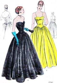 Robe de soirée des années 1940 patron Vogue 5915 Womens corsetés jupe robe de soirée Sweetheart cou en forme de buste de patron couture Vintage taille 38                                                                                                                                                                                 Plus