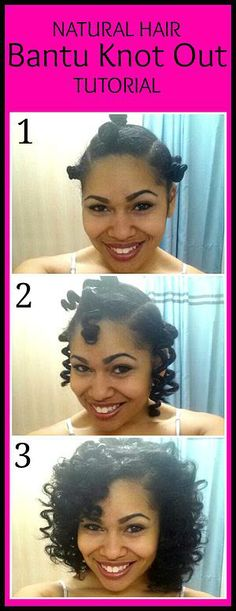 Bantu Knot Out Tutorial on Mixed Girls' hair (3b curls)   Blessed &…