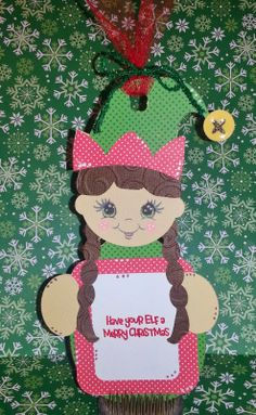 Elf Tag - using Kadoodle Bug Designs and Jaded Blossom Stamps
