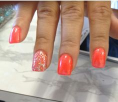 Cute orange nail design
