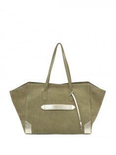 Marie Martens OLIVE SUEDE PARIS TOTE BAG  Boho Chick – Rock – Parisienne – Designer Handbag –Bucket Bag - Paris – Ibiza – Fringes – Pompons- Leather –Bohemian –Sac Seau – Bohémien – Bobo – Chic – effortless – fashion