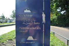 Signing, Streetfurniture, Bewegwijzering Delft. Designed by Bureau Stoep
