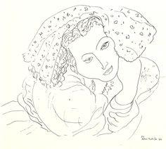 Henri Matisse Contour Drawings | Henri Matisse studied portraiture and still-life creating contour line ...