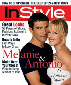 InStyle Magazine Covers: 1999 - November, Antonio Banderas and Melanie Griffith… Melanie Grifith, William Hurt, Penthouses Magazine, Steve Martin, Instyle Magazine, Vintage Magazines, Rolling Stones, Pop Culture, Cool Things To Buy
