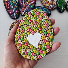 4 Easter Art on Wood Dotart Egg Dotilism Egg Easter | Etsy Easter Art, Group Boards, Wood Art, Handmade, Wooden Art, Hand Made, Tree Art