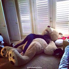 Giant teddy bear. $120 at Costco! Christmas present?!?!