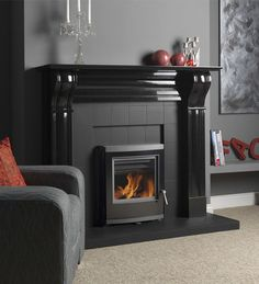 Esse 350 MF we have this stove, its a great looking stove very modern