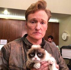 Conan O'Brien and Grumpy cat