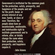 """Government is instituted for the common good."" Abso-frakking-lutely."