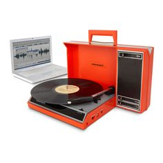 Spinnerette USB Turntable Red, $139.95, now featured on Fab.