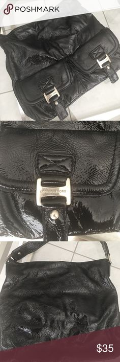 ec9bac50d5e Michael Kors Black Patent Leather Hobo Purse Outside is in great condition  with the only wear
