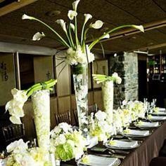 Green Reception Wedding Flowers Decor Flower Centerpiece