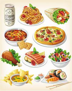 International cuisine vector
