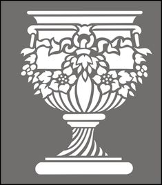 Click to see the actual GR100 - Floral Urn  stencil design.
