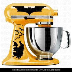 Batman Mixer Decal by CraftyLittleDevilLTD on Etsy https://www.etsy.com/listing/253920452/batman-mixer-decal