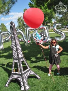 An American Girl in Paris Party Eiffel Tower balloons ~ Lynlee's
