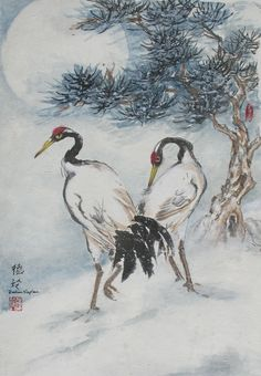 Recent images of Oriental Brush Paintings by Darlene Kaplan, via Behance