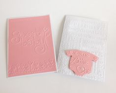 Pink Embossed Baby Cards 2 by CraftsByKesh on Etsy