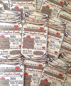 Custom Bridal Shower Mason Jar Invitations with Twine by OohLaLlew, $12.00