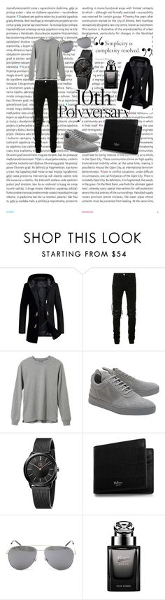 """Look of the day"" by harkaur ❤ liked on Polyvore featuring Oris, AMIRI, L.L.Bean, Filling Pieces, Calvin Klein, Mulberry, Yves Saint Laurent, Gucci, men's fashion and menswear"