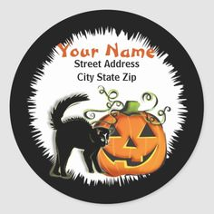 Whether you write them by hand or print them at home, check out our selection of Round Address Labels return address labels. Return Address Stickers, Return Address Labels, Jack O'lantern, Custom Address Labels, Addressing Envelopes, Round Stickers, Cat, Personalized Address Labels, Round Labels