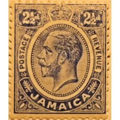 Jamaica, King George V, 1/2d green 1912