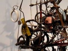 A Jean Tinguely Kinetic Sculpture in the Met Museum of Art New York. Photos just didn't do it justice....