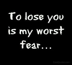 I'm scared to lose her and i'm also scared that if i stay i'll just hurt my self.