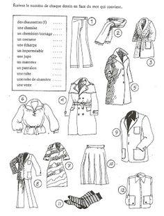 Français Langue Étrangère - A1: Les vêtements