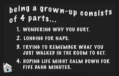 Being a grown up...