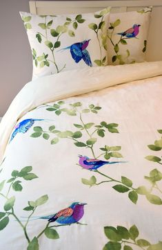 Main Image - Blissliving Home Tanzania Lemala Duvet Cover & Sham Set Fabric Paint Shirt, Fabric Painting On Clothes, Painted Clothes, Hand Painted Sarees, Hand Painted Fabric, Bed Sheet Painting Design, Bed Cover Design, Designer Bed Sheets, Saree Painting