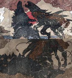 Godzilla Franchise, All Godzilla Monsters, Godzilla Wallpaper, Sharks, Me Me Me Anime, Sword, Fantasy Art, Comics, Drawings