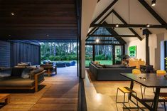 CAAHT Studio Architects created a retreat consisting of two gable cabins in Matarangi, a town on the Coromandel Peninsula of New Zealand. Cedar Cladding, Public Architecture, Living In New Zealand, Indoor Outdoor Living, Cabin Homes, Coastal Homes, Modern House Design, House Plans, New Homes