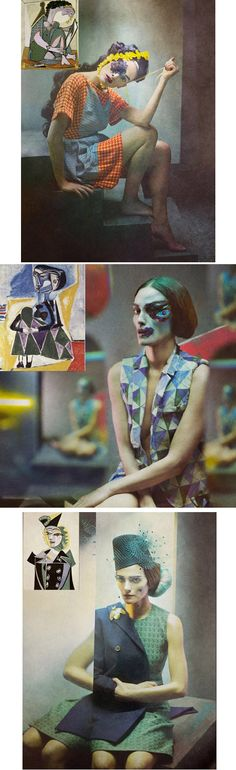 O fotógrafo espanhol Eugenio Recueno fez uma série de fotografias de moda em homenagem às pinturas de Picasso. // The spanish photographer Eugenio Recueno made a series of fashion photographs in homage to Picasso paintings.