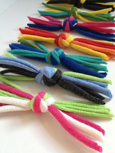 repurposed tshirt kitty knots # Cats toys Items similar to Recycled Tshirt Kitty Knots Cat Toys - Custom Set of 8 - Choose Your Own Colors - EcoFriendly Pet Toys on Etsy Homemade Cat Toys, Diy Dog Toys, Pet Toys, Kitten Toys, Animal Projects, Animal Crafts, Recycling, Guinea Pig Toys, Recycled T Shirts