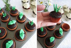 Earth Day cupcakes,