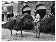Eleanor Roosevelt and her horse
