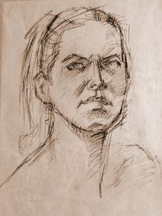Robert Elliott - Pencil on toned paper