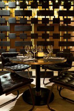Beef Bar by Humbert & Poyet | Room Divider  interior design architecture sports bar boutique pub masculine dark industrial raw restaurant café bistro inspiration