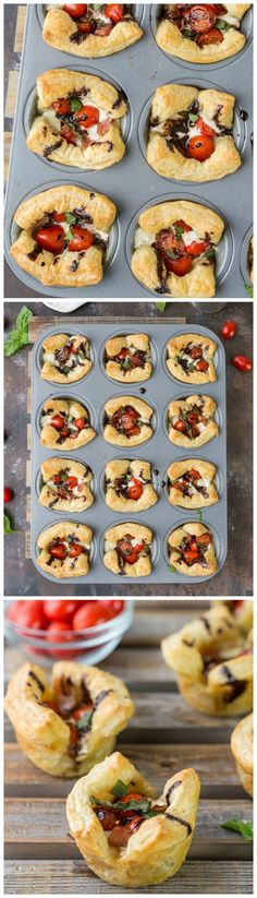 Puff Pastry Caprese Cups; a SUPER EASY and delicious appetizer for any occasion!