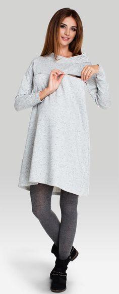 Happy mum - Angelo трикотажное платье свободного трапециевидного кроя для беременных и кормящих